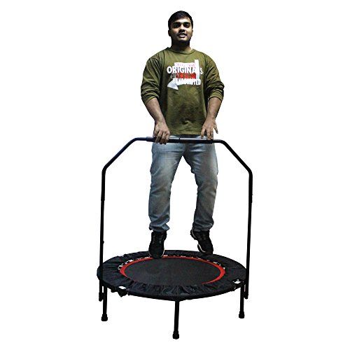 Rayhome 40 Inch Indoor Foldable Trampoline with Bar for 5+ Child,Fitness Trampoline for Adult (with bar)