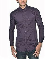 Neptune Solid Men's Casual Shirt purple