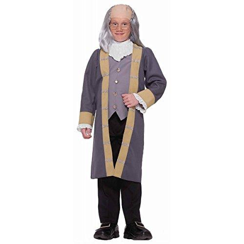 [GSG Ben Franklin Costume Kids 4th of July Fancy Dress] (Ben Franklin Adult Mens Costumes)
