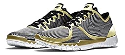 Nike Free Trainer 3.0 V4 Mens Sneakers (11.5, Metallic Gold/White/Wolf Grey/Black)