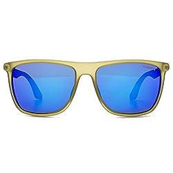 Carrera 5018/S Sunglasses CA5018S-0MJC-Z0-5616 - Cedar Blue Frame, Ml Blue Lenses, Lens Diameter