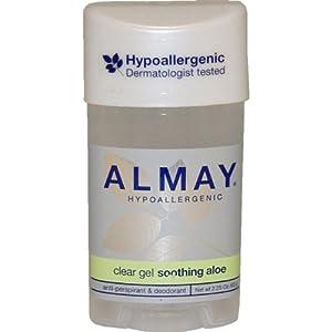 Hypoallergenic Clear Gel Soothing Aloe Deodorant by Almay, 2.25 Ounce