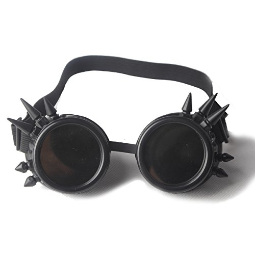 FLORATA-Cosplay-Goggles-Goth-Steampunk-Antique-Punk-Style-Gothic-Glasses-Cyber-Spikes