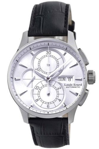 Louis Erard Men's 78220AA01.BDC51 1931 Automatic Black Leather Chronograph Date Watch