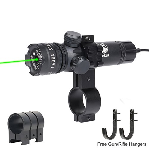 Vokul Shockproof 532nm Tactical Green Dot Laser Sight Rifle Gun Scope w/ Rail & Barrel Mount Cap Pressure Switch (Laser Pointer 1000mw High Power compare prices)