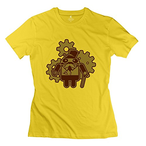 Hd-Print Women'S Tshirt Gear Mustache S Yellow