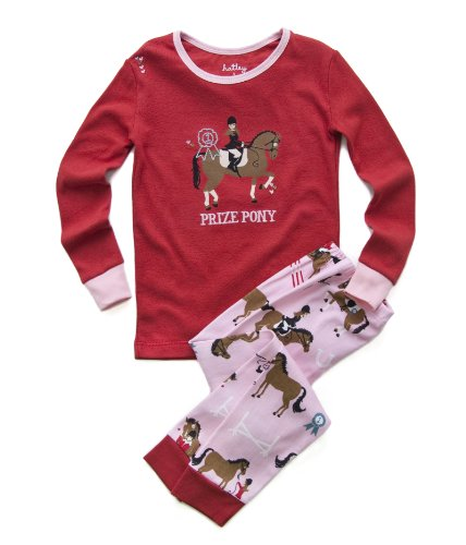 Hatley  Girls 7-16 Polo Pajama Set - Hunter Jumper