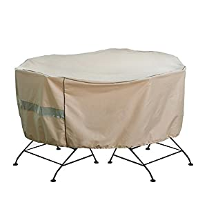 Seasons Select CVP01461 Round Table and Chair Set Cover, Almond from Seasons Select