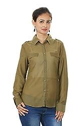 Khaki Corporate Wear Shirt