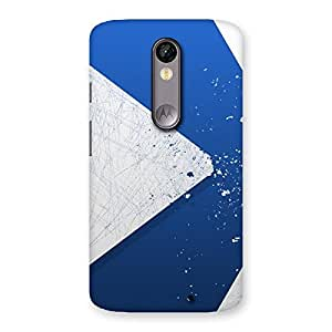 Stylish Blue Paint Work Job Back Case Cover for Moto X Force