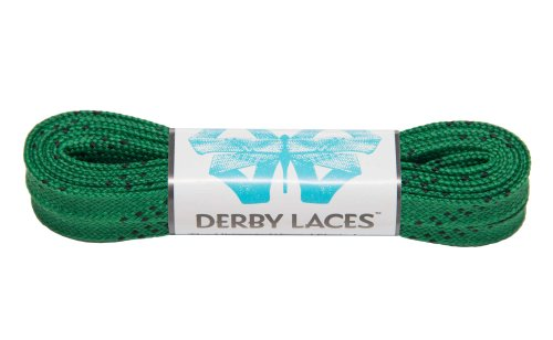 Kelly Green 60 Inch Waxed Skate Lace - Derby Laces for Roller Derby, Hockey and Ice Skates, and Boots