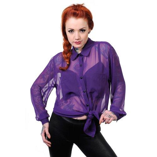 Camicetta Banned affascinante 2438,4 cm S camicia viola taglia unica