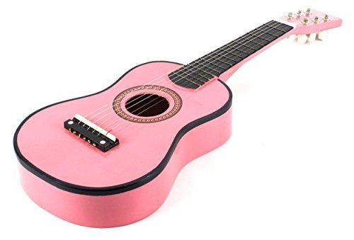 23-inch-pink-acoustic-toy-guitar-for-kids-directlycheaptm-translucent-blue-medium-guitar-pick