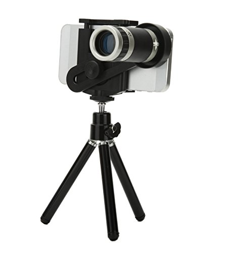 Shopping_Shop2000 Universal Phone Mount Holder 8X Optical Zoom Telescope Manual Focus Camera Lens With Mini Tripod Stand For Iphone 4 4S 4G 5 5G 5S 5C Samsung Galaxy S3 I9300 S4 I9500 S5 I9600 Note 3 N9000 Lg Blackberry Motorola Sony Cell Phone (8X Lens)