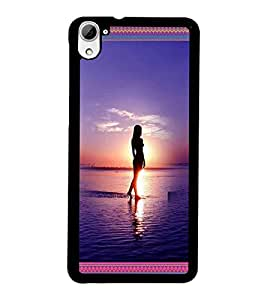 PrintDhaba Beach Girls D-4128 Back Case Cover for HTC DESIRE 826 (Multi-Coloured)