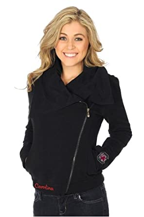 UG Apparel Ladies South Carolina Gamecocks Fleece Moto Jacket by UG Apparel
