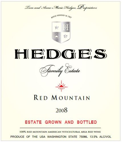 2008 Hedges Family Estate Red Mountain 750 Ml