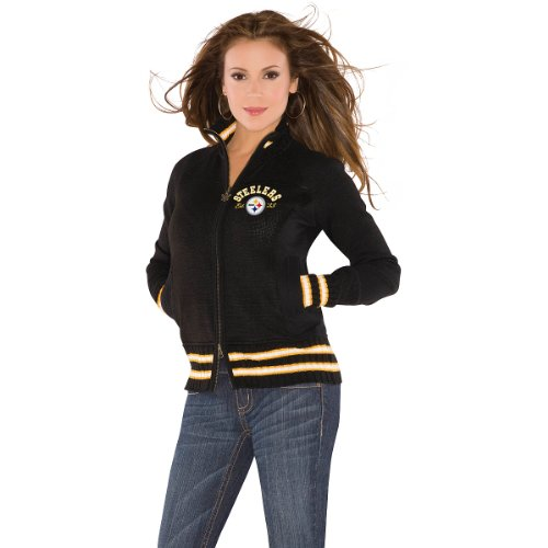 Touch by Alyssa Milano Pittsburgh Steelers Women's Upper Deck Sweater XX Large at Amazon.com