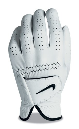 Nike Elite Feel Cadet Glove, White, Medium Large (Customized Nike Elites compare prices)