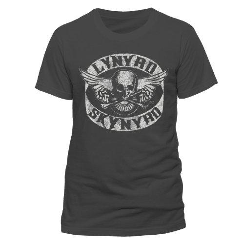 Collectors Mine - Lynyryd Skynyrd - Biker Patch, T-shirt da uomo,  manica corta, collo rotondo, grigio(grau (grau)), XL