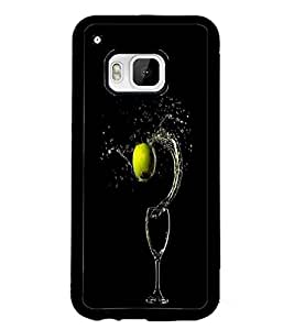 PrintDhaba Glass D-2404 Back Case Cover for HTC ONE M9S (Multi-Coloured)
