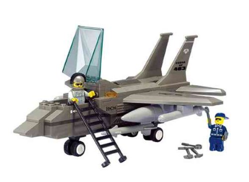 Sluban Air Force F15 Fighter Jet 142 Pieces Lego Compatible - 1