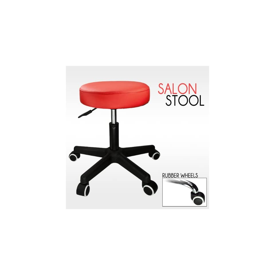 Barber Red Hydraulic Stool Chair Facial Salon Tattoo Beauty