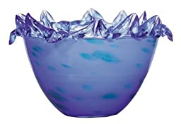 Blue Glass Decorative Fruit Bowl by OK LIGHTING