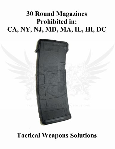 TWS Magpul MAG211BLK PMAG 30 5.56x45 AR15/M16 Magazine (no window) (Black)