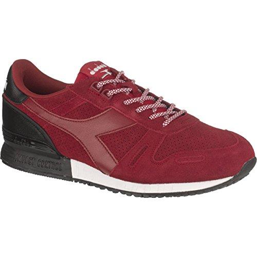 Diadora Men's Titan Suede Fashion Running Shoe, Chili Pepper Red, 8 M US