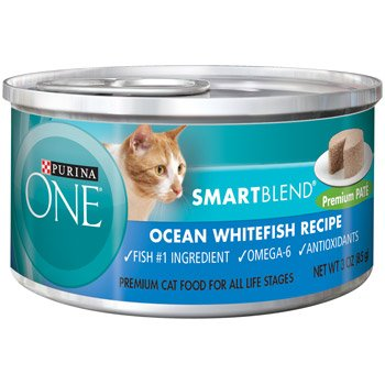 Purina One Smart Blend Ocean Whitefish Premium Pate Canned Cat Food