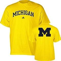 Buy Michigan Wolverines Adidas Gold Relentless T-Shirt by adidas