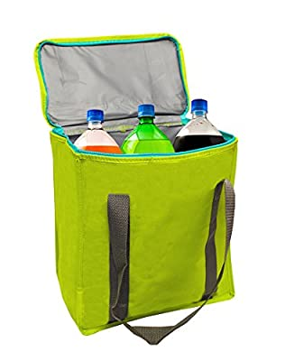 Earthwise Large Heavy Duty Nylon Insulated Cooler Bag Lunch Bag (2 Pack)