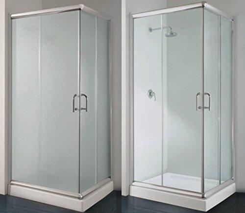 Box Doccia Angolare 80x100 con vetro Opaco o Trasparente disp. in diverse misure