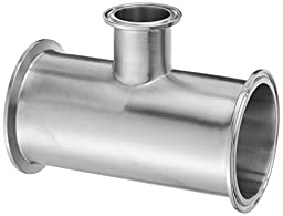 Dixon B7RMP-G300150 Stainless Steel 304 Sanitary Fitting, Reducing Clamp Tee, 3\