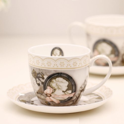Ufingo-Creative Bone China Coffee Cup And Saucer