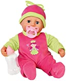 Bayer 38cm First Words Baby Modern Apple Design Laughs and Makes Sounds (Green/ Pink)