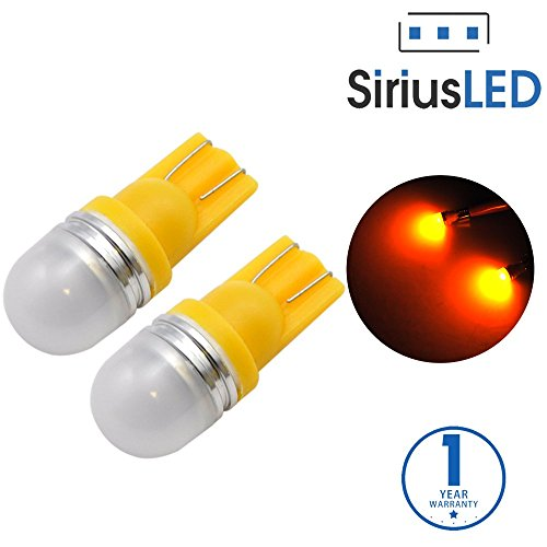 SiriusLED Super Bright 1W 360 Degree Projector LED Bulbs for Interior Car Lights Gauge Instrument Panel License Plate Dome Map Side Marker Courtesy T10 168 194 2825 W5W Amber Yellow (07 Bmw 335i Spark Plug Socket compare prices)