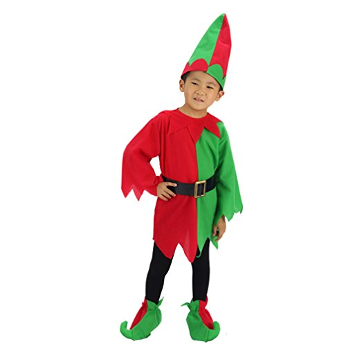 Oryer Boy's Christmas Performance Clothing Cosplay Costumes Elf Costume
