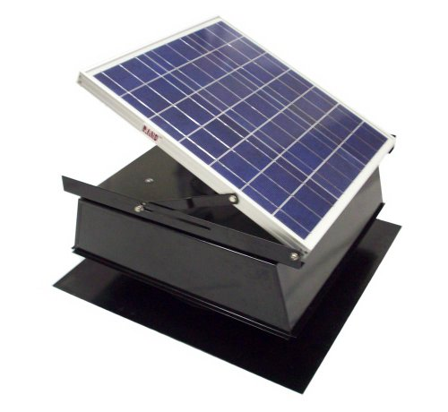 Wind Powered Attic Ventilation : Best cheap rand solar powered attic fan watt w roof top