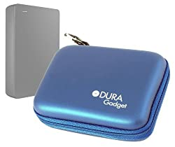 DURAGADGET Sturdy Solid Shock And Water Resistant Blue Case For Seagate Backup Plus Fast Backup Plus Slim