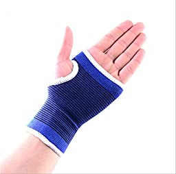 2 Wrist Hand Brace Elastic Palm Support Carpal Tunnel Pain Relief Strength Training Wrist Weights New