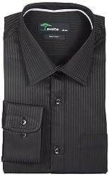 SWATHE Men's Formal Shirt (5648-2-42, Black)