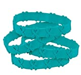 50 Teal Awareness Pop-Out Bracelets Ovarian cancer, cervical cancer, uterine cancer, Anxiety disorders