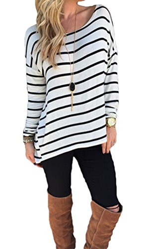 halife-womens-crew-neck-long-sleeve-t-shirt-women-loose-fit-casual-top-blouseblack-and-whitelarge