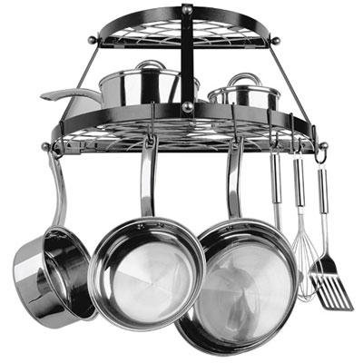 Cheap 2 Shelf WallMount Blk Pot Rack 2 Shelf WallMount Blk Pot Rack (PRA7971284)