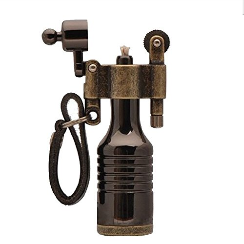 Ezyoutdoor Antique Lighter wheel wizard style Jet Torch Kerosene for Camping Bivouac Hiking Survival Hunting (just shape antique) with gift match ,life time warranty (Kerosene Wick Stove compare prices)