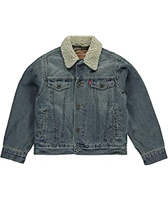"Levi's Big Boys' ""Sherpa Collar"" Denim Jacket"
