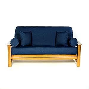 ls covers real denim dark full futon cover