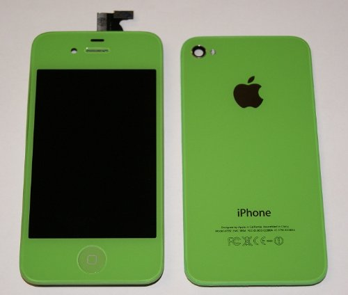 Generic Light Green Iphone 4S 4Gs Full Set + Tools: Front Glass Digitizer + Lcd + Back Cover Assembly + Home Button - For All Carriers